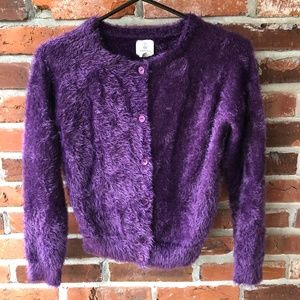 Lands' End Fuzzy Purple Sweater Sz. M (10/12)
